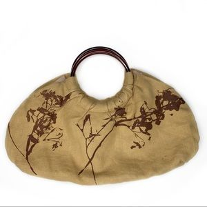 Sharon Spain Textiles Hemp Linen Handbag Rare!